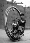 1930s Man On A Monocycle...