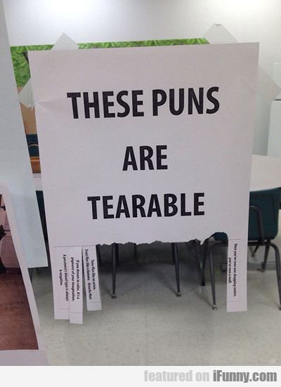 These Puns Are Tearable...