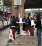 Pedal Charging Stations In Paris...