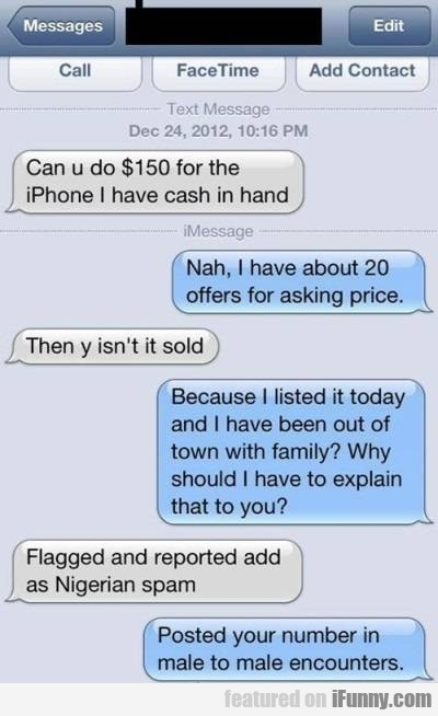 Can U Do $150 For The Iphone