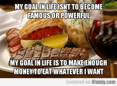 My Goal In Life Isn't To Become Famous Or...