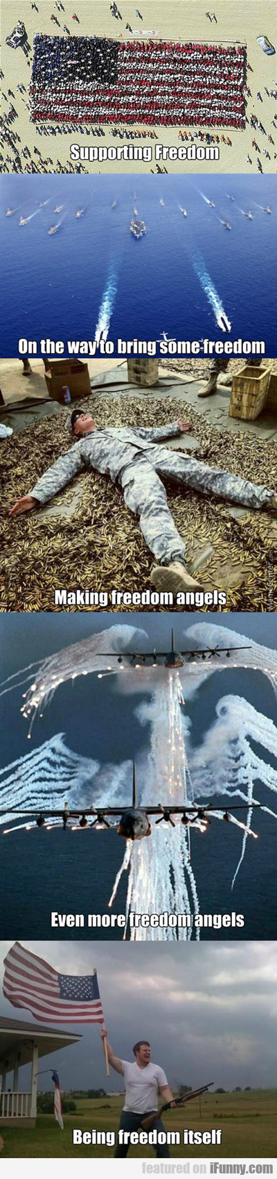 supporting freedom...