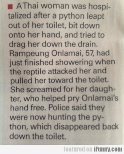 A Thai Woman Was Hospitalized