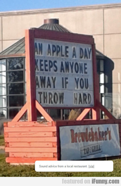 An Apple A Day...