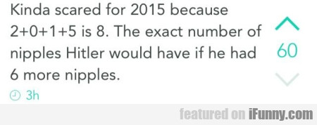 Kinda Scared For 2013