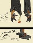 Look Larry, I Made A Fruit Bat