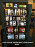 School Vending Machine Offers Supplies...