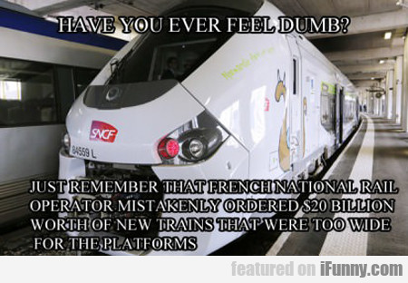 have you ever feel dumb?