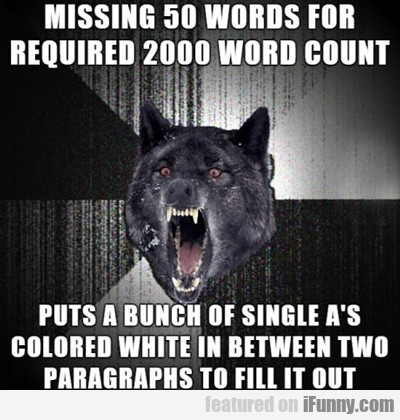 Missing 50 Words For Required Word Count...