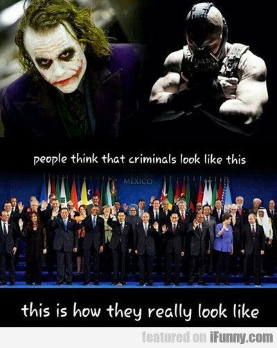 People Think That Criminals Look Like This...