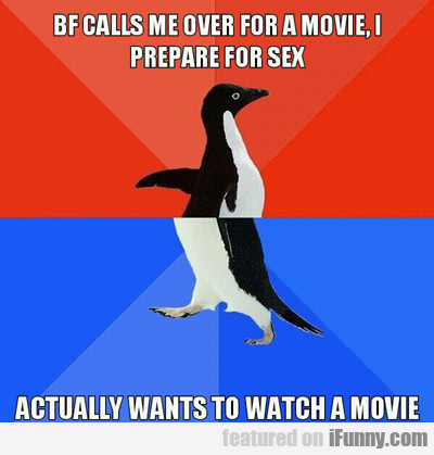 Bf Calls Me Over For A Movie...