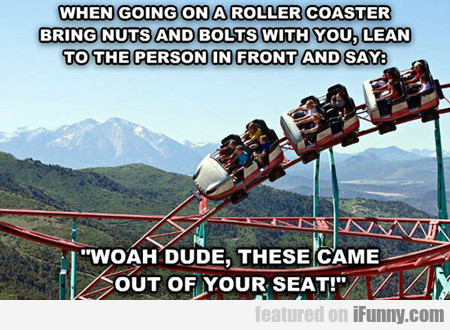 When Going On A Roller Coaster...