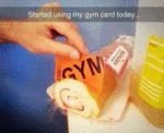 Started Using My Gym Card Today...
