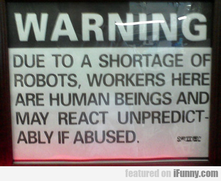 Warning Due To Shortage