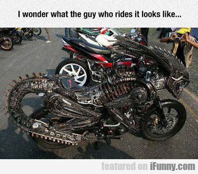 I Wonder What The Guy Who Rides It Looks Like...