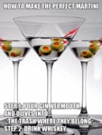 How To Make The Perfect Martini...