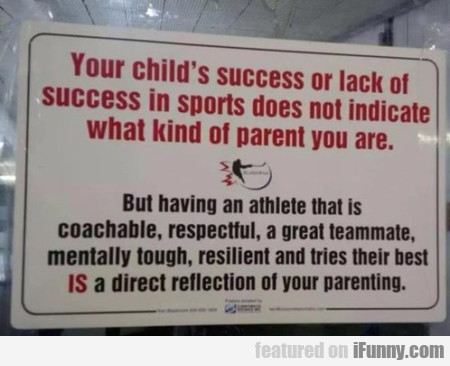 Your Child's Success Or Lack