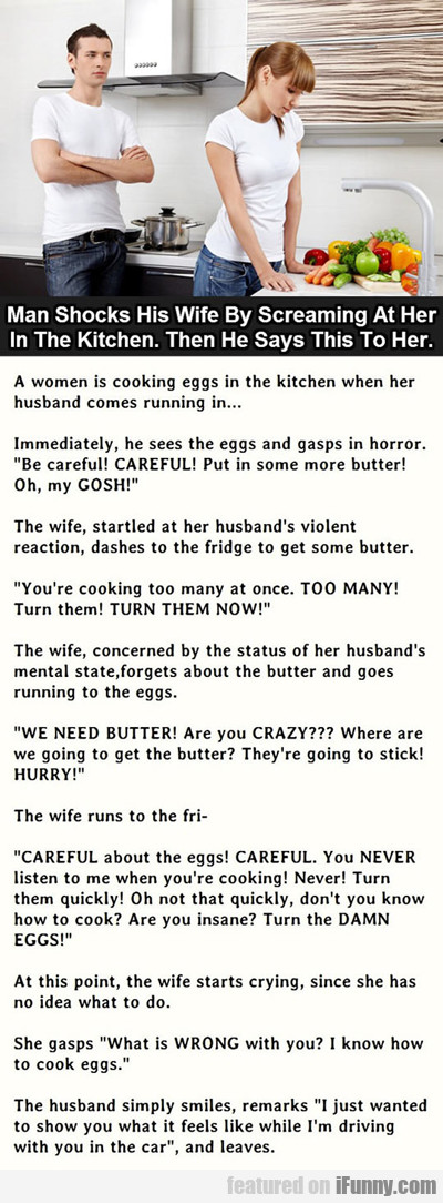 Man Shocks His Wife...