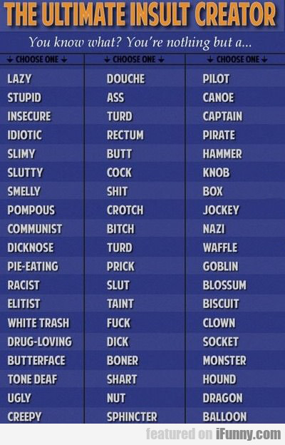 The Ultimate Insult Creator...