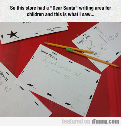So This Store Had A Dear Santa...