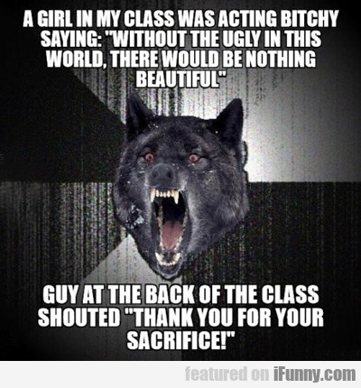A Girl In My Class Was Acting Bitchy...