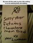 My Mom Slid This Under My Door...