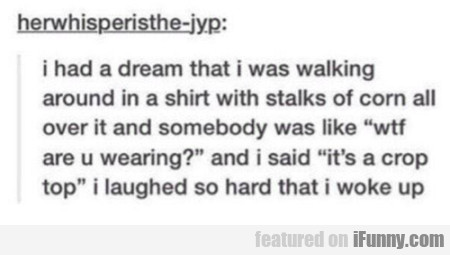 i had a dream that i was