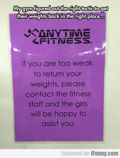 My Gym Figured Out The Right...