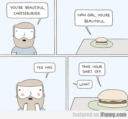 You're Beautiful Cheeseburger
