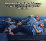 So My Roommate And I Got A Denim Couch...