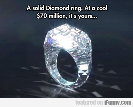 A Solid Diamond Ring...