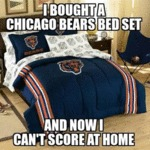 I Bought A Chicago Bears Bed Set...