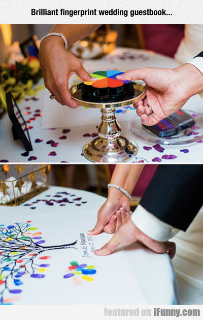 Brilliant Fingerprint Guestbook...