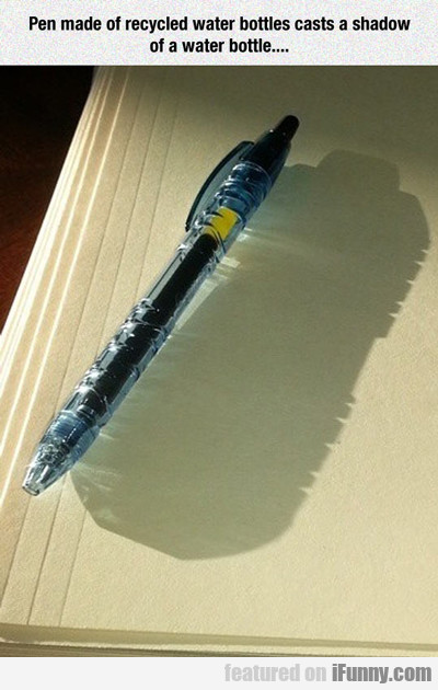 Pen Made Of Recycled Water Bottles...