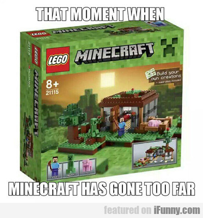 That Moment When Minecraft Has Gone To Far...