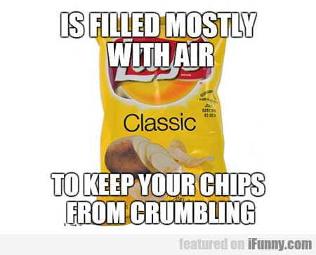 is filled mostly with air...