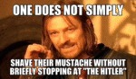 One Does Not Simply Shave Their...
