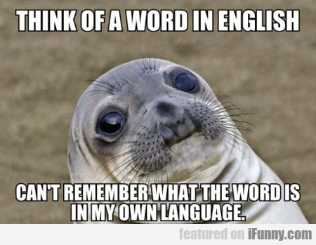 Think Of A Word In English...