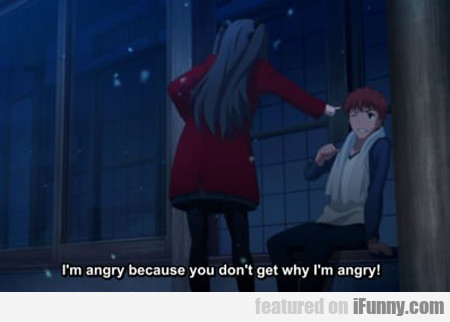 I'm Angry Because You Don't Get Why I'm Angry...