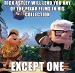 Rick Astley Will Lend You Any Of The Pixar...