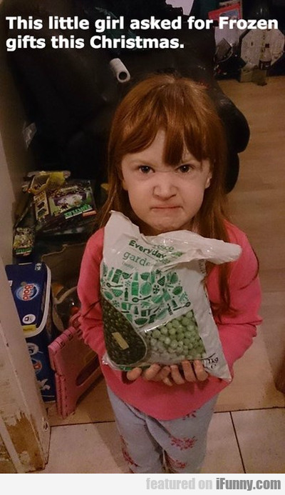 This little girl asked for Frozen gifts for..