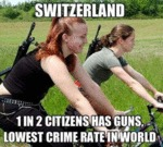 Switzerland, 1 In 2 Citizens Has Guns...