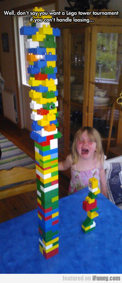 Don't Say You Want A Lego Tower...