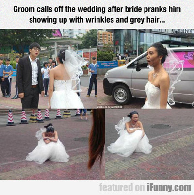 groom calls off wedding...