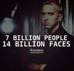 7 Billion People 14 Billion Faces