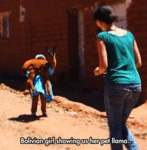Bolivian Girl Showing Us Her Llama...