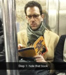 Step 1: Hide That Book...