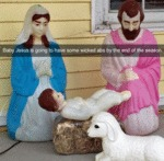 Baby Jesus Is Going To Have Some Wicked Abs...