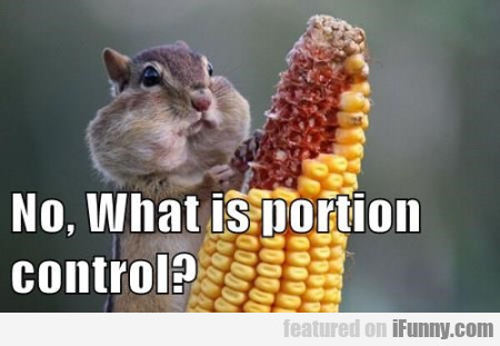 No, What Is Portion Control..
