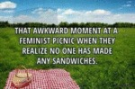 That Awkward Moment At A Feminist